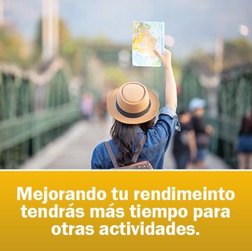 Mejorando tu rendimeinto tendrás más tiempo para otras actividades.